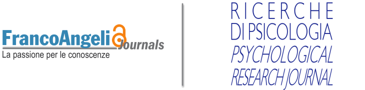 Ricerche di Psicologia/Psychological Research Journal - Open Access